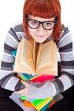 Teenager girl and book Stock Photos
