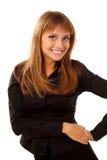 Teenager girl cheerful beautiful friendly Royalty Free Stock Photo