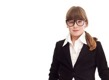 Teenager girl dressed as a businesswoman Royalty Free Stock Photos
