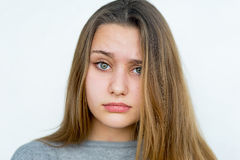Teenager girl emotional posing isolated Stock Photos