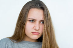 Teenager girl emotional posing  Stock Images