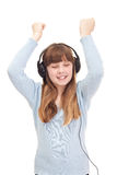 Teenager girl enjoying listen to music Royalty Free Stock Photo