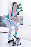 Teenager girl exercising Stock Image