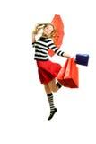 Teenager girl flying Royalty Free Stock Image