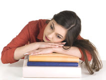 Teenager girl with group book Royalty Free Stock Photos