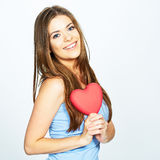 Teenager girl hold heart Stock Image
