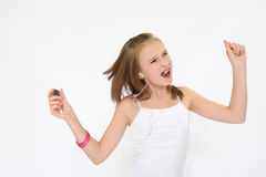 Teenager Girl Jamming Stock Images