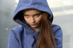 Grumpy teenage girl Royalty Free Stock Photos