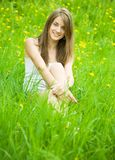 Teenager girl in nature Stock Photos
