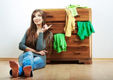 Teenager girl portrait at home. Royalty Free Stock Photography