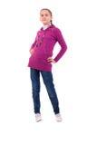 Teenager Girl In Purple. Royalty Free Stock Image