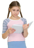 Teenager girl read book Stock Image