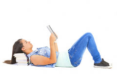 Teenager girl reading book Royalty Free Stock Image