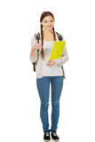 Teenager girl with school backpack. Stock Image