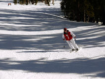 Teenager girl skier Stock Image