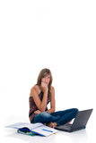 Teenager girl student Stock Image