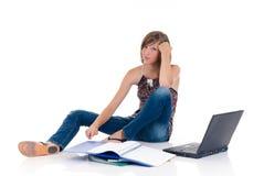 Teenager girl student Stock Photography