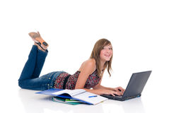 Teenager girl student Royalty Free Stock Photo
