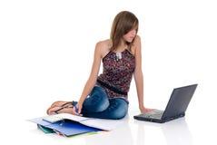 Teenager girl student Royalty Free Stock Image