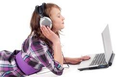 Teenager girl in studio Royalty Free Stock Image