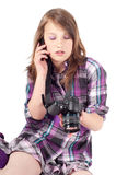 Teenager girl in studio Stock Photography