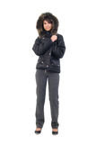 Teenager Girl Winter Jacket. Stock Image