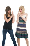 Teenager girls posing Royalty Free Stock Images