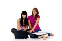 Teenager girls studying Stock Photos