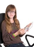 Teenager in glasses Stock Image