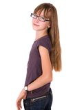 Teenager in glasses Stock Photos
