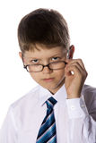 Teenager in glasses Royalty Free Stock Photography