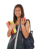 Teenager going back to school Royalty Free Stock Image