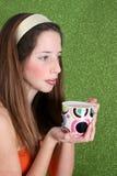 Teenager on Green Stock Photo