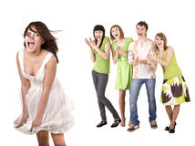 Teenager  group of young people. Royalty Free Stock Photo