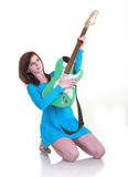 Teenager with guitar Royalty Free Stock Photos