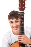 Teenager with Guitar Stock Photo