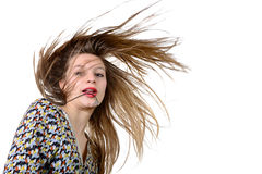 Teenager hair in the wind Stock Image