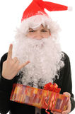 Teenager in  hat santa Royalty Free Stock Photo
