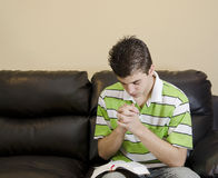 Teenager Having A Chirstian Devotional Stock Photography