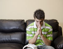 Teenager Having A Chirstian Devotional Royalty Free Stock Photos