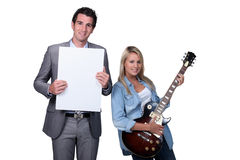 Teenager having a guitar lesson Stock Image