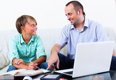 Teenager having lesson with teacher Royalty Free Stock Images