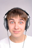 Teenager in headphones Royalty Free Stock Photos