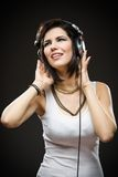 Teenager with headphones Royalty Free Stock Photo