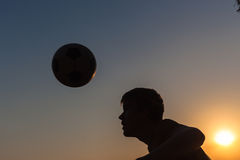 Teenager Heads Football Silhouette Royalty Free Stock Images