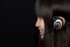 Teenager with Headset royalty free stock images
