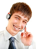 Teenager with Headset Royalty Free Stock Image