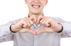 Teenager with Heart Shape Stock Images