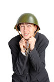 Teenager in helmet Royalty Free Stock Image