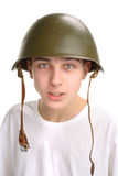 Teenager in helmet Stock Photos